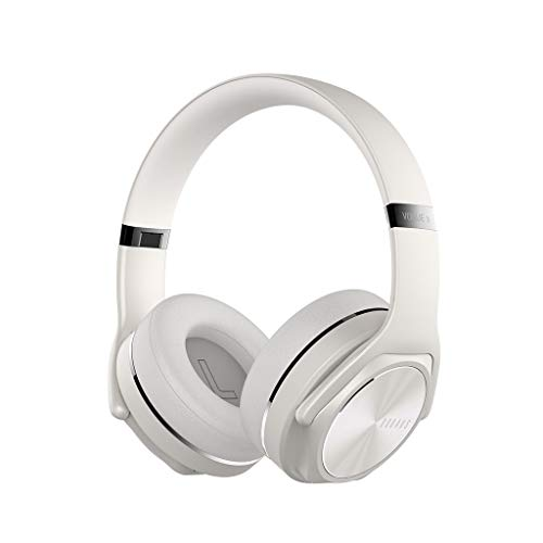 HSKB gaming headset hoofdtelefoon, DOQAUS draadloze hoofdtelefoon over-ear hifi stereo opvouwbare headset speaker wirelss oordopjes ruisonderdrukking oortelefoon voor pc/laptop/online spelen/met microfoon