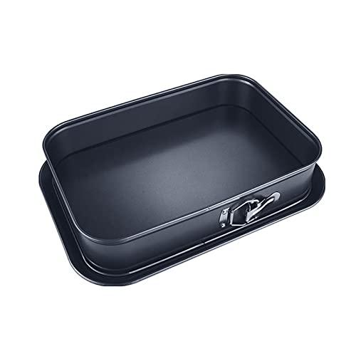 LIQUID Rechteck Springform Backform Non-Stick Kuchenform, 39 * 28 cm lebende backformen, Schwarze Antihaft-Beschichtung, Einfach zu bedienen und leicht zu reinigen, geeignet zum Backen zu Hause