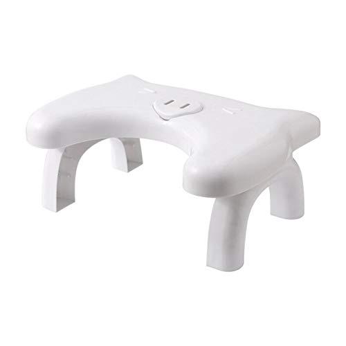 LIXUDECO Taburete plegable para inodoro, multifuncional en cuclillas con aromaterapia, taburete creativo antideslizante para asiento de inodoro (color blanco)