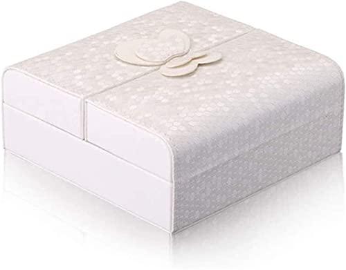 Scatola portagioie per uso domestico, organizer da viaggio per gioielli, in pelle, idea regalo per le donne, organizer per gioielli (colore rosa)