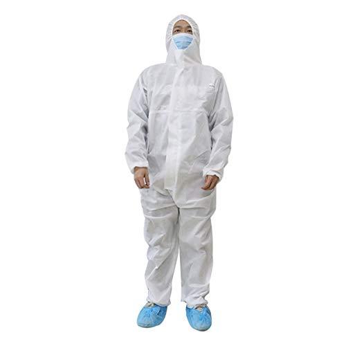 CLOTHES Chemikalienschutzkleidung -Isolation Kleider.Erwachsene Einwegkittel.Schutzmäntel mit Langen Ärmeln, Hals und Taille Krawatten.SMS-Vlies.Latexfrei. (Size : M)