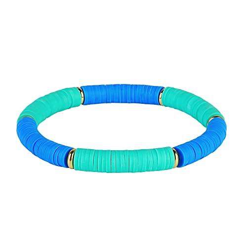 C·QUAN CHI Bracelets De Perles en Caoutchouc Bracelets Extensibles pour Femmes Bracelets De Perles D'amitié Faits à La Main Bracelets De Manchette De Mode pour Femmes Filles