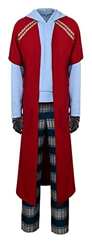 Traje de Cosplay de los hombres Casual Hoodie Pantalones Pijamas Set Set Halloween Fiesta Wear (Color : Red, Size : S)
