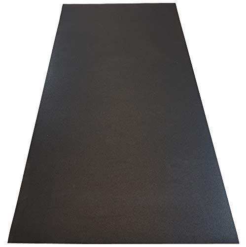 Dinoflex Rubber King Allzweck Fitnessmatte – Sport Matte und Bodenschutzmatte für Fitnessgeräte für Zuhause, als Yoga Matte oder für das Spinning Bike schwarz 1