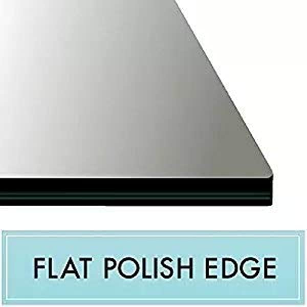 20 X 50 Rectangle Tempered Glass Table Top 3 8 Thick Flat Polish Edge And Touch Corners