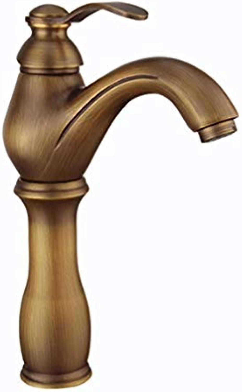 Wasserhahn Alle Kupfer Antik Gebürstet Spülbecken Wasserhahn Wasserhahn Heies Und Kaltes Wasser HENGXIAO (Farbe   Messing)