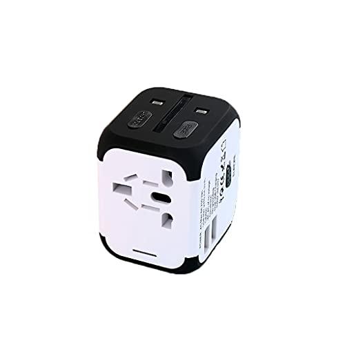 Adaptador de corriente internacional Adaptador universal de viaje, adaptador de enchufe de conversión internacional 100-240V para US UK UE Au & Asia cubre 150 + países Convertidores de energía en todo
