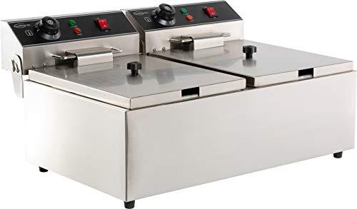 Friteuse professionnelle électrique - 2 x 6 litres sans robinet de vidange - Combisteel -