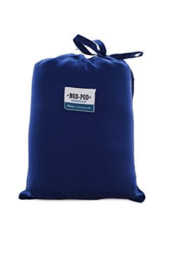 Nod-Pod Schlafsack-Innenfutter, 100 % reine Seide, extra groß und extra luxuriös, blau, Extra Large