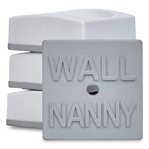 Wall Nanny Mini – Wandschützer für Treppengitter und Babygitter als auch für Hunde- & Haustierabsperrungen (4er-Set)