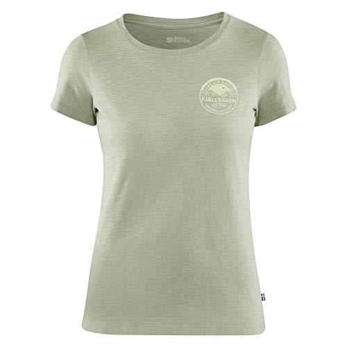 FJALLRAVEN Forever Nature Badge T-Shirt W pour Femme XL Vert (Sage Green)