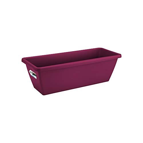 Elho Barcelona Balconnière 40 - Planteur - Fruits Rouges - Extérieur & Balcon - L 19.5 x W 39.5 x H 15.6 cm