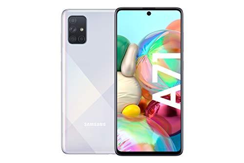 Samsung Galaxy A71 Android Smartphone ohne Vertrag, 4 Kameras, 4.500 mAh Akku, Schnellladen, 6,7 Zoll Super AMOLED Display, 128 GB/6 GB RAM, Dual SIM, Handy in weiß, deutsche Version