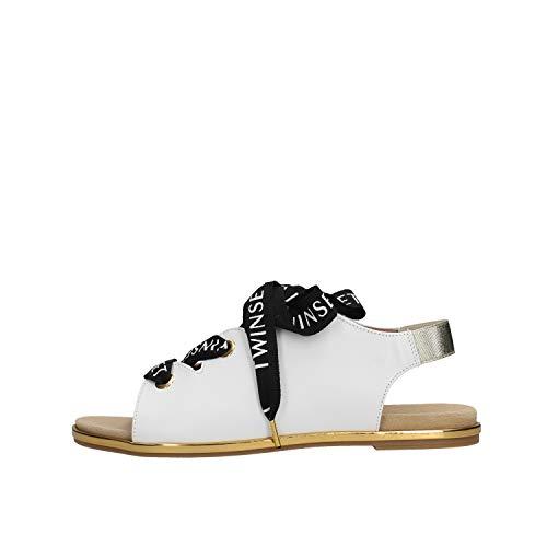 Twin Set - Sandalo da Bambino Bianco in 191GCJ012