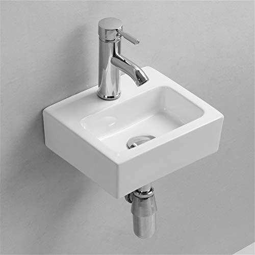 Gimify Mini Lavabo Bagno Sospeso Lavandino Piccolo, 280x245x90mm