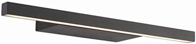 WWLONG Neue Schwarze Spiegel Scheinwerfer LED einfache Wand Zimmer Wandleuchte Bad wasserdicht Anti-Fog-Aluminium-Bad Lampe Make-up-Spiegel Lampe-62CM