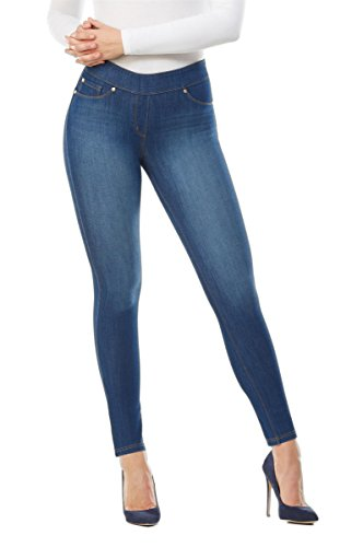 Nygard Women's Regular Slims Luxe Denim Slims Skinny Ankle Cut Med Indigo Wash