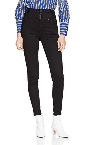 New Look Highwaist Skinny, Vaqueros para Mujer, Negro (Black), 40 (Talla del fabricante: 12/L32 UK)