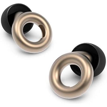 Loop Earplugs - Ohrstöpsel zur Lärm-Reduktion (20 dB) - In-Ear-Gehörschutz für Arbeit, Schlagzeug, Motorrad, Home Office, Party & Konzert - Ohrenschützer in 3 Größen - Gold