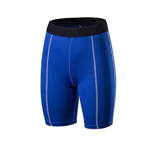 No-Branded WZGGZWGG Yoga Shorts Fitness Engen Sport Workout Shorts for Frauen Compression Gym Shorts Laufhose (Color : Blau, Size : XL)