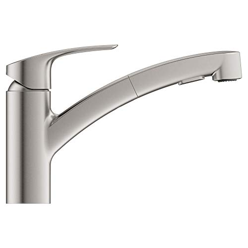 Grohe 30306DC0 SuperSteel Eurosmart Single-Handle Pull-Out Sprayer Kitchen Faucet