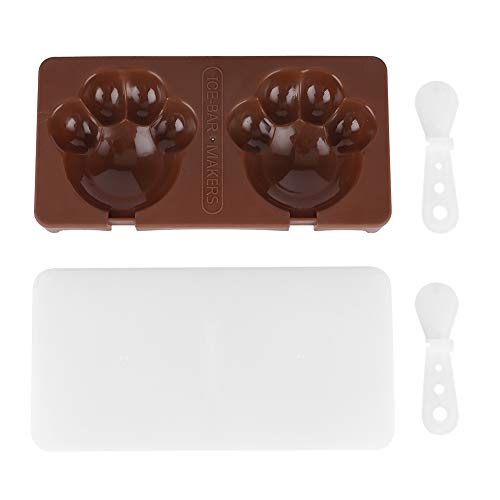 Ice Cream Making Mold, Non‑stick and BPA‑free Quick Demoulding Ice Bar Mold for Kitchen for Home(espresso)