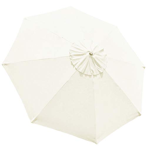 EliteShade 9ft Patio Umbrella Market Table Outdoor Deck Umbrella Replacement Canopy (Natural-15)