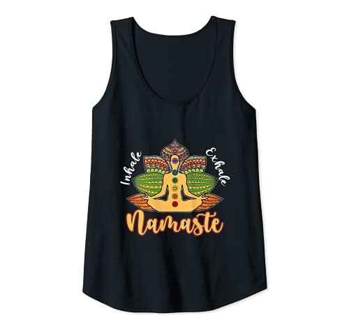 Mujer Namaste - Asiento de loto para yoga Camiseta sin Mangas