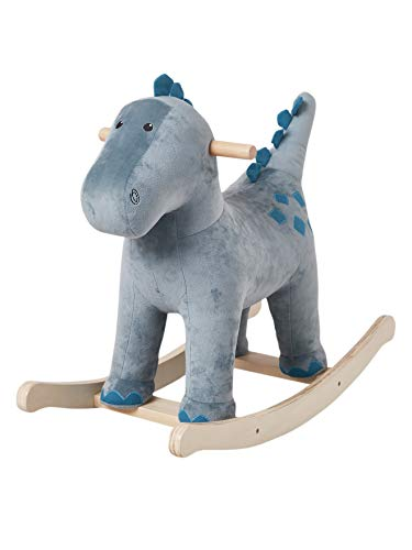 Vertbaudet Schaukel-Dino für Kinder, Holz blau ONE Size