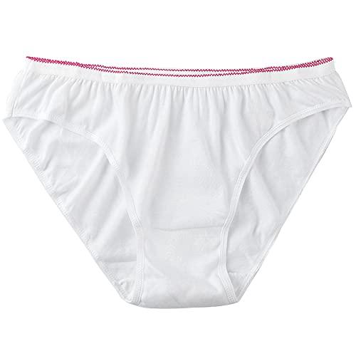 LiRuiPengBJ Paquete de 20 Ropa Interior Desechable para Mujer Bragas de Algodón para Viajes de Maternidad Menstruación Calzoncillos Envueltos Individualmente (Color : White, Size : XL)