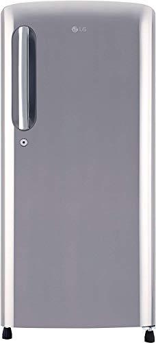 LG 190 L 4 Star Direct Cool Single Door Refrigerator(GL-B201APZY, Shiny Steel, Inverter Compressor)