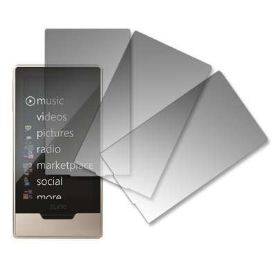 Premium Crystal Clear Screen Protectors for Microsoft Zune HD 16 GB-3 Pack