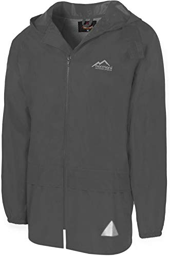 normani Leichte Windjacke/Regenjacke im Beutel, Unisex - Erwachsene Farbe Grau Größe 4XL