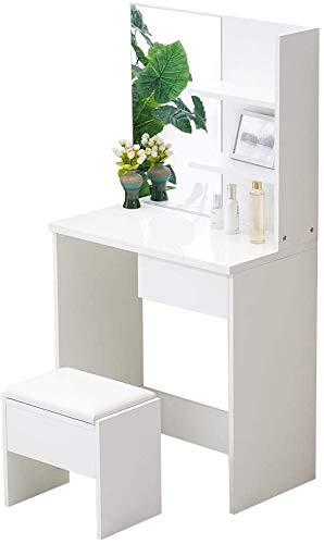 Modern Girl Style Bedroom Dressing Table with Drawers and compartments Dressing Table,Small Dressing Table