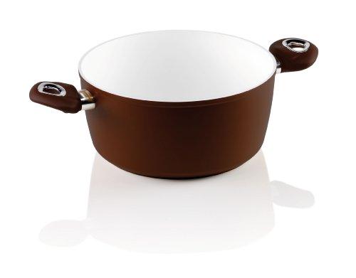 Bialetti Y0CWLS0002 Ceramic Ok - Pentola alta, 20 cm x 8 cm, rivestimento in ceramica e adatta all\'induzione