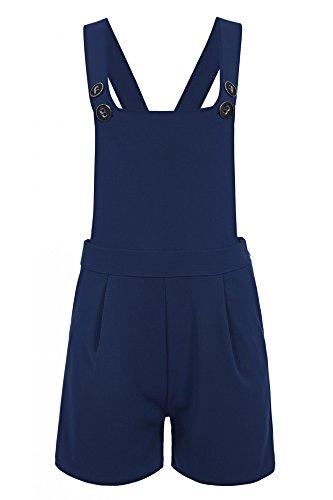 Laeticia Dreams Damen Latzhose Kurz XS S M L XL, Farbe:Blau, Größe:40.L