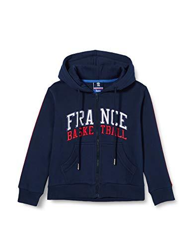 France Basketball Saison 20/21 Life Style Enfant Sweatshirt à Capuche, Bleu, 8 Ans Garçon