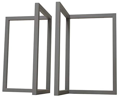 サンニード テーブル 脚 パーツ アイアンレッグL型 ILG2-GY 2個1組 高さ67.5cm アイアン グレー 灰色