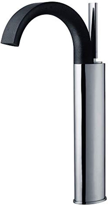 XPYFaucet Wasserhahn Armatur Mischbatterie Kupfer-Hochbecken, Schwarz, Silber Und Chrom