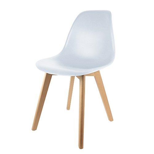 THE HOME DECO FACTORY - HD3010 - Lot de 2 Chaises Scandinave pour Enfant Bois/MDF Blanc 35 x 37 x 57,50 cm