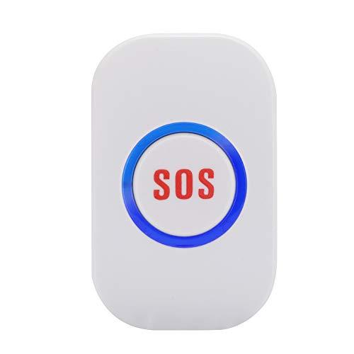 Botón de llamada de emergencia, sistema de llamada inteligente de buscapersonas inalámbrico para el cuidador, botón de emergencia a prueba de agua, alarma de emergencia para niños mayores, sistema de