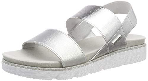 bugatti Damen 431673805900 Slingback Sandalen, Silber (Silver 1300), 42 EU