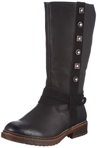 Rieker Damen 94784 Kniehohe Stiefel, schwarz, 41 EU