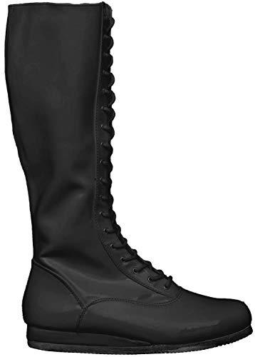 Wrestling Pro Kostüm Schuhe (Large, schwarz)