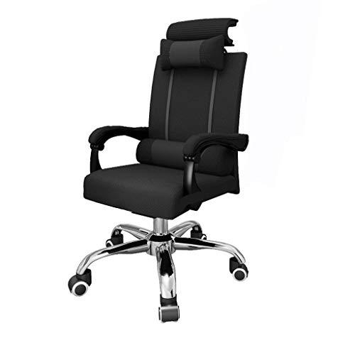 X&M REFING-Bürostuhl, ergonomischer Bürostuhl mit Fußstütze, Stuhl mit hoher Back-Büro mit Lordosenstütze, höhenverstellbarer Stuhl, Kopfstütze, atmungsaktive Mesh-Rückenlehne