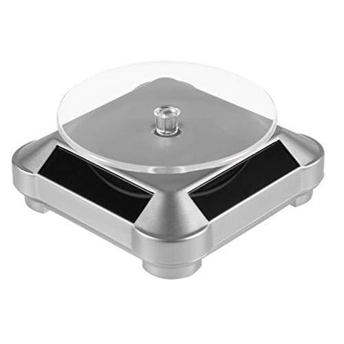 EPMEA0 1 UNID 360 Grado JOYERO DE JOYERÍA DE ROTACIÓN ABS Turnato Giratorio automático para imágenes de Producto de 360 Grados (Color : Silver)