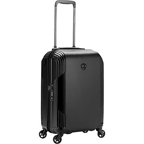 Traveler's Choice Riverside 21' 100% Lightweight Polycarbonate Spinner Luggage, Black