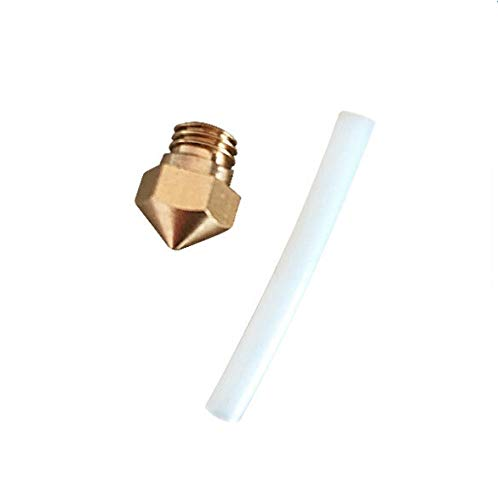 HUANRUOBAIHUO Replacement MK10 Nozzle size 0.4mm 1.75mm with PTFE tube for Wanhao/Flashforge/QIDI TECHNOLOGY 3d printerspare parts 3D Printer Parts