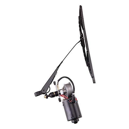12Volt Electric UTV Windshield Wiper Motor Kit,Fits Polaris Ranger RZR 900 1000,Hard Coated Or Glass Windshields, Universal Windshield Wiper Arm,Blade and 12V Motor Kit w/90 Degree Sweep