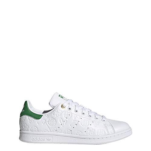 Adidas Originals Women's Stan Smith (End Plastic Waste) Sneaker, FTWWHT/GREEN/CWHITE, 11